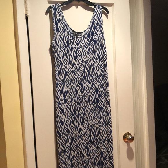 7bf3f5b7c73e Ellen Parker Dresses | Blue Print Maxi Dress | Poshmark